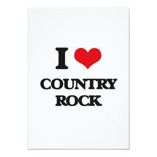 Amo COUNTRY ROCK Invitación 12,7 X 17,8 Cm
