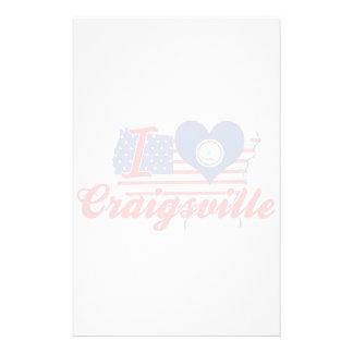 Amo Craigsville, Virginia Papelería Personalizada