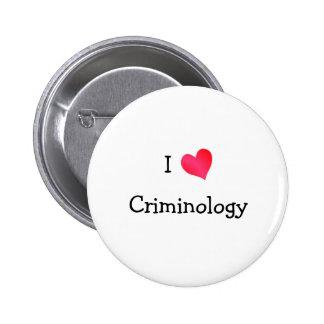 Amo criminología chapa redonda de 5 cm