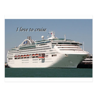 Amo cruzar: barco de cruceros 2 postal