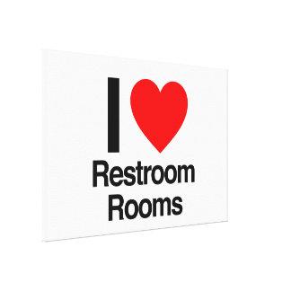 amo cuartos del lavabo impresion de lienzo