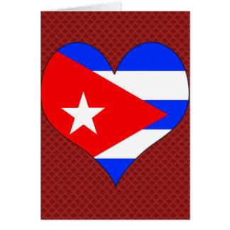 Amo Cuba Tarjeta De Felicitación