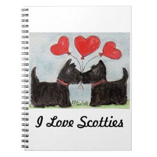 AMO cumpleaños de los perros del escocés del Libretas