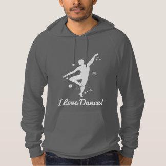 Amo danza con el bailarín de sexo masculino sudadera