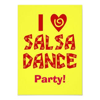 Amo danza de la salsa que el baile de encargo invitación