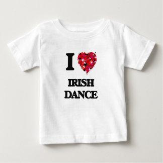 Amo danza del irlandés camiseta de bebé