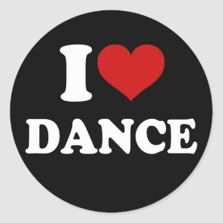Amo danza pegatina redonda