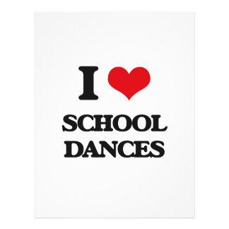 Amo danzas de la escuela folleto 21,6 x 28 cm