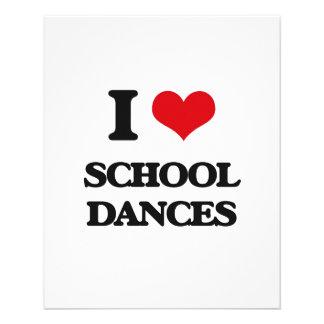 Amo danzas de la escuela folleto 11,4 x 14,2 cm