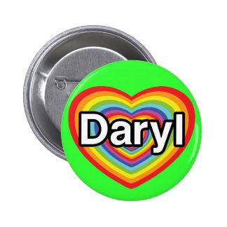 Amo Daryl: corazón del arco iris Pins