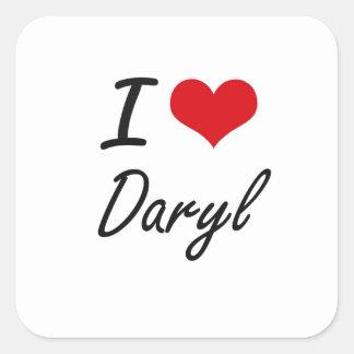 Amo Daryl Pegatina Cuadrada
