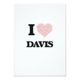 Amo Davis Invitación 12,7 X 17,8 Cm