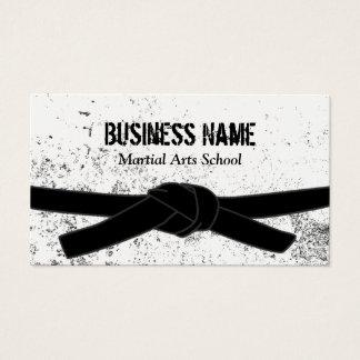 Amo de la correa negra de la escuela de artes tarjeta de visita