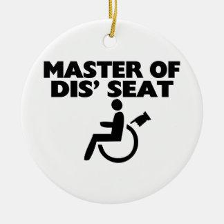 Amo de la silla de ruedas de Seat del SID Ornamento Para Reyes Magos