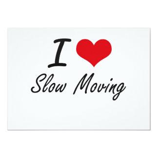 Amo de movimiento lento invitación 12,7 x 17,8 cm