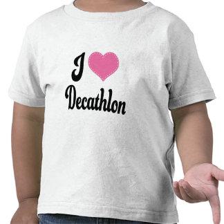 Amo Decathlon (del corazón) Camisetas