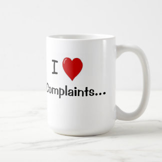 Amo decir chistoso del servicio de atención al taza de café