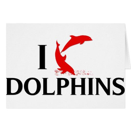 Amo delfínes tarjetón