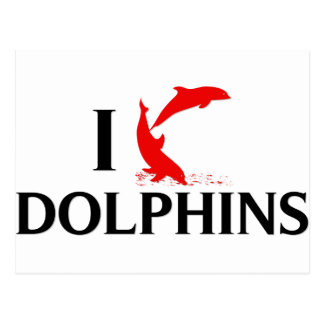 Amo delfínes tarjetas postales