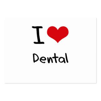 Amo dental tarjetas de negocios