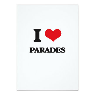 Amo desfiles invitación 12,7 x 17,8 cm