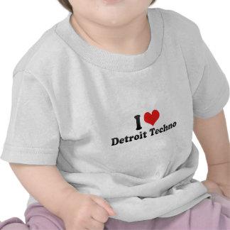 Amo Detroit Techno Camiseta