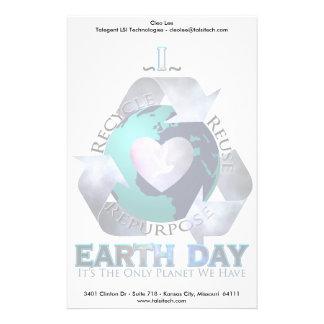 Amo Día de la Tierra Papeleria De Diseño