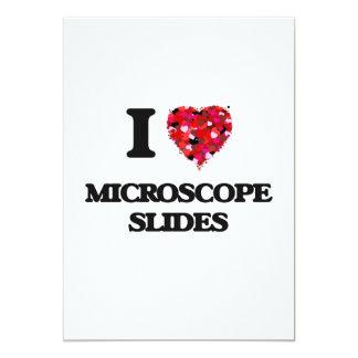 Amo diapositivas del microscopio invitación 12,7 x 17,8 cm