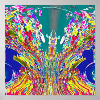 Amo digital de Reiki del flujo de energía del Póster