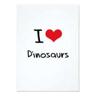 Amo dinosaurios anuncio personalizado