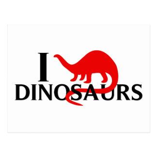 Amo dinosaurios postal