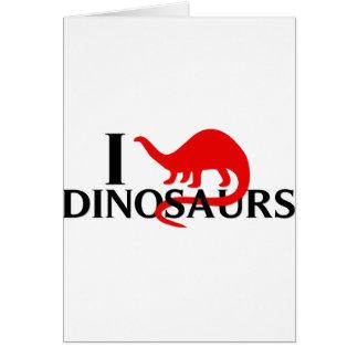 Amo dinosaurios tarjeta de felicitación