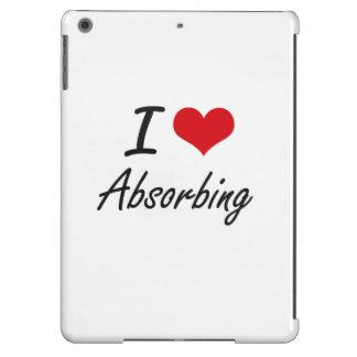 Amo diseño artístico absorbente funda para iPad air