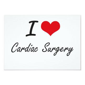 Amo diseño artístico de la cirugía cardiaca invitación 12,7 x 17,8 cm