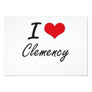 Amo diseño artístico de la clemencia invitación 12,7 x 17,8 cm