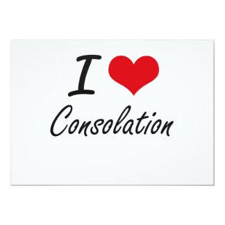 Amo diseño artístico de la consolación invitación 12,7 x 17,8 cm