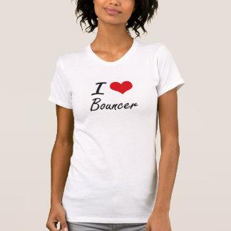 Amo diseño artístico de la gorila camiseta