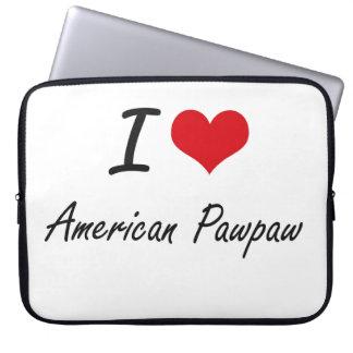 Amo diseño artístico de la papaya americana funda portátil