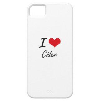 Amo diseño artístico de la sidra iPhone 5 protectores
