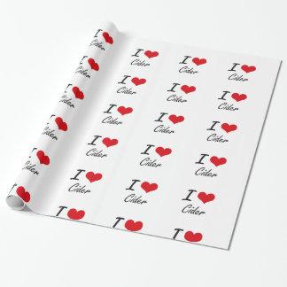 Amo diseño artístico de la sidra papel de regalo