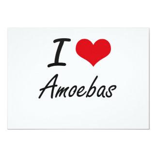 Amo diseño artístico de las amebas invitación 12,7 x 17,8 cm