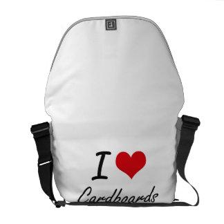 Amo diseño artístico de las cartulinas bolsas de mensajería