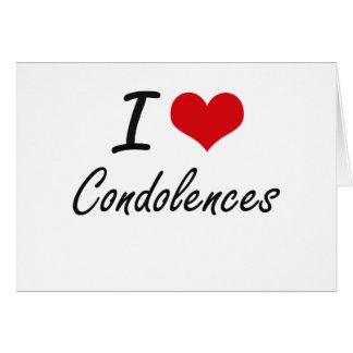 Amo diseño artístico de las condolencias tarjeta pequeña