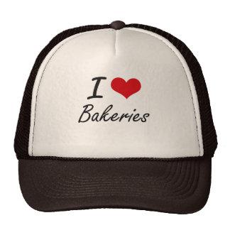 Amo diseño artístico de las panaderías gorras de camionero