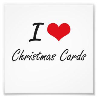 Amo diseño artístico de las tarjetas de Navidad Arte Fotográfico