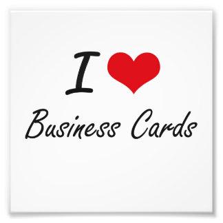 Amo diseño artístico de las tarjetas de visita impresiones fotograficas