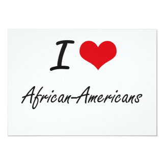 Amo diseño artístico de los afroamericanos invitación 12,7 x 17,8 cm