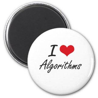 Amo diseño artístico de los algoritmos imán redondo 5 cm