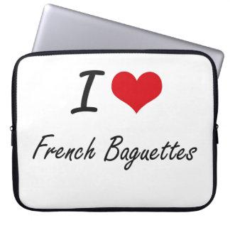 Amo diseño artístico de los Baguettes franceses Mangas Portátiles