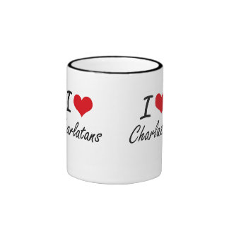 Amo diseño artístico de los charlatanes taza a dos colores